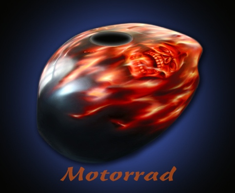 Custompainting Motorrad bemalen