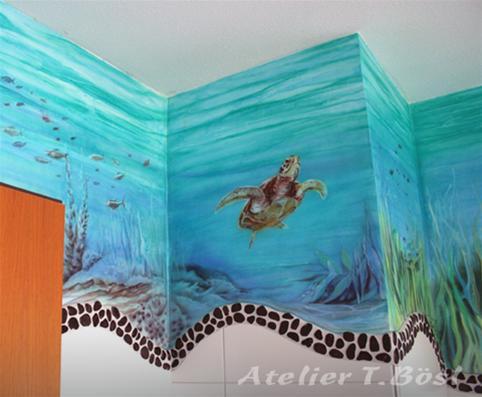 Wandmalerei Fassadenmalerei Airbrush Atelier Bosl In Nurnberg